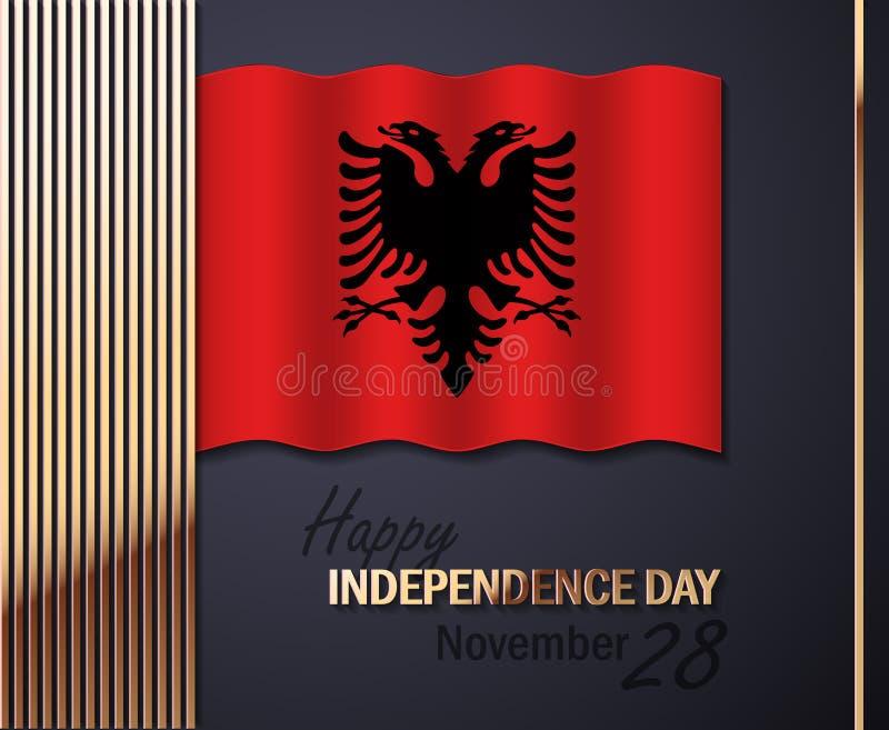 Vektor-Illustration für Unabhängigkeitstag von Albanien stock abbildung