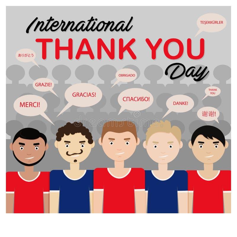 Vektor-Illustration von internationalem danken Ihnen Tag lizenzfreie abbildung