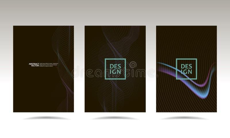 Vektor-Illustrationsanschlagbrett des schwarzen Hintergrunddeckungsma?es graues f?r Text und moderne Website der Gestaltung der W lizenzfreie abbildung