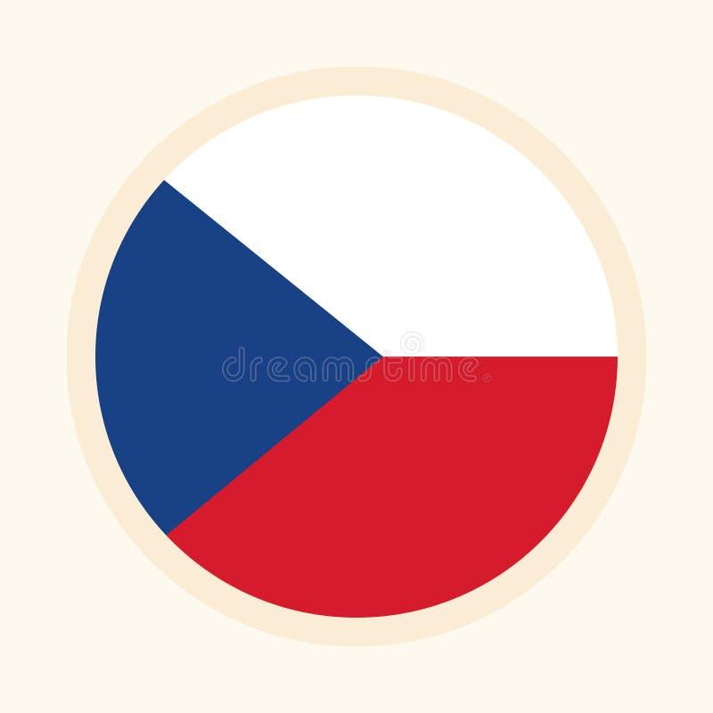Vektor illustrerad flagga av Tjeckien royaltyfri illustrationer