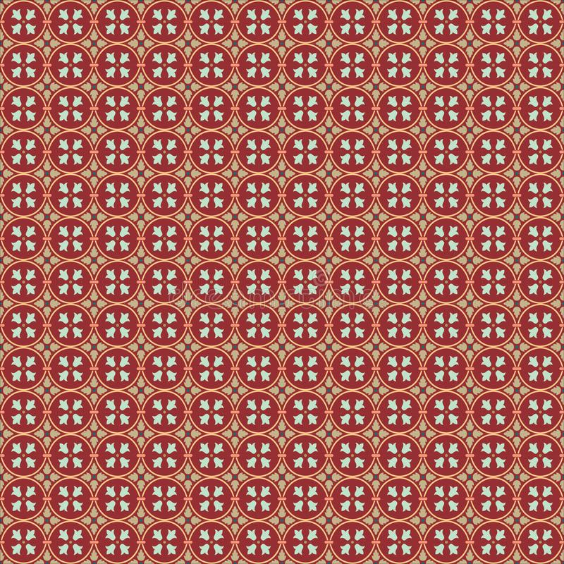 Vektor Ilustrations-Hintergrund-Tapeten-Verzierungs-Muster Art Deco, Arabesken-Entwurfs-Kunst lizenzfreie abbildung