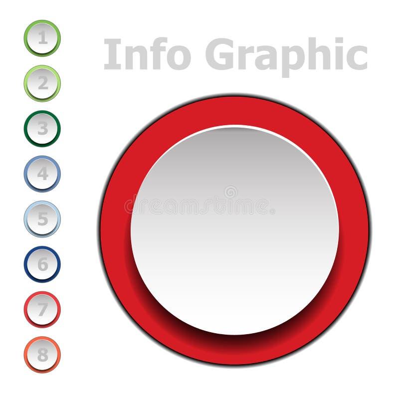 Vektor Infographic med symboler och alternativ eller moment Infographics f?r aff?rsid? stock illustrationer