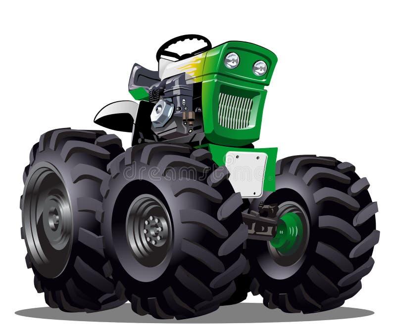 Vektor-Karikatur-Traktor lizenzfreie abbildung