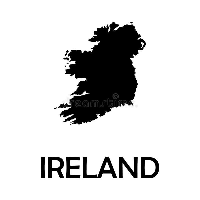 Vektor-Karteirland-Land auf weißem Hintergrund lizenzfreie abbildung