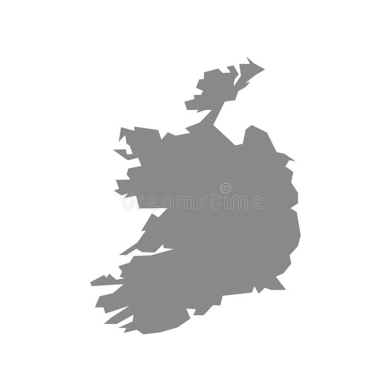 Vektor-Karteirland-Land auf wei?em Hintergrund lizenzfreie abbildung