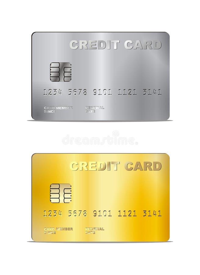 Vektor-Kreditkarte-Illustration lizenzfreie abbildung