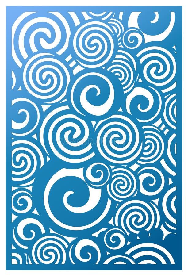 Vektor-Laser-Schnittplatte Abstrakte Musterschablone für dekoratives vektor abbildung
