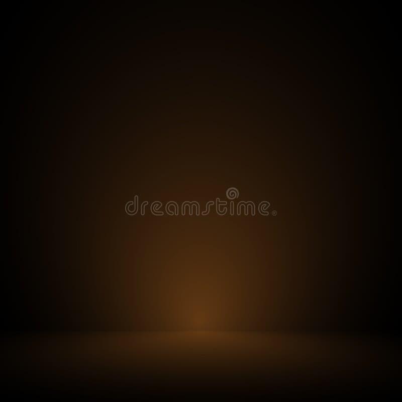 Vektor: Leerer brauner Studioraumpastellhintergrund, Schablonenspott oben für Anzeige des Produktes, Geschäftshintergrund vektor abbildung