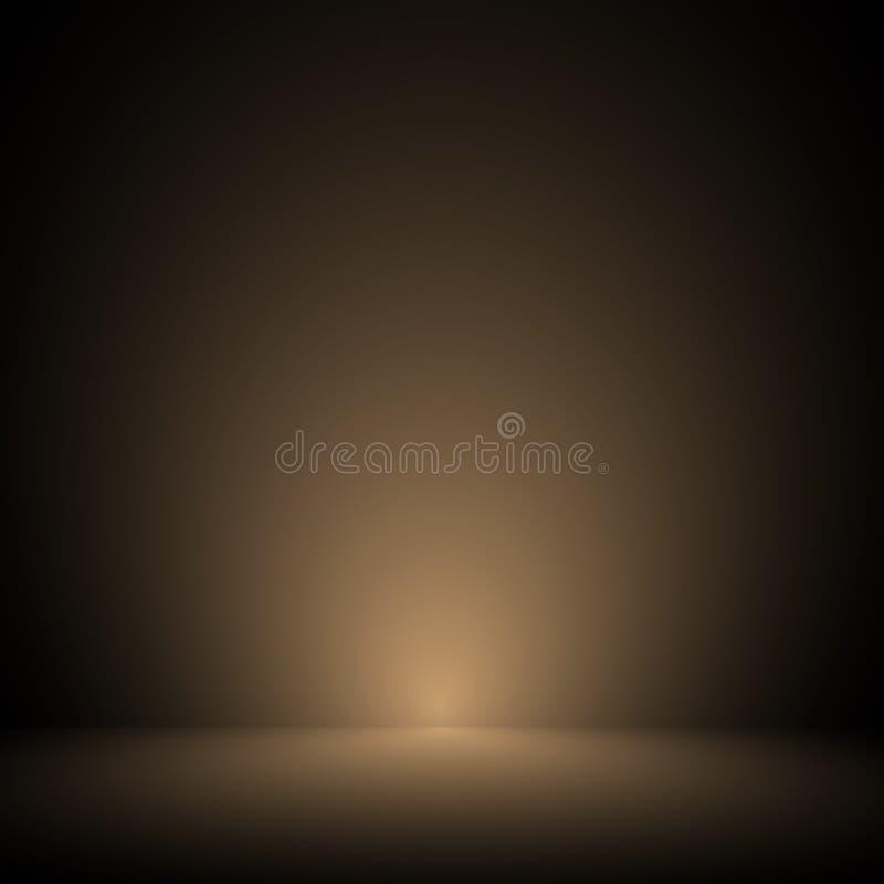 Vektor: Leerer brauner Studioraumpastellhintergrund, Schablonenspott oben für Anzeige des Produktes, Geschäftshintergrund stock abbildung