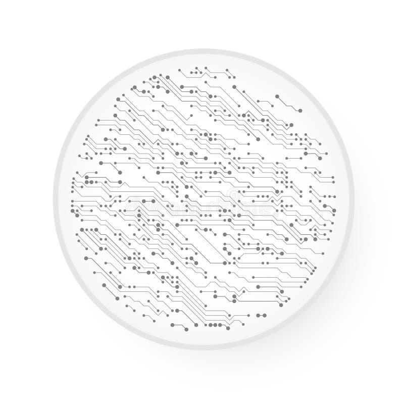 Vektor-Leiterplatte Techno-Hintergrund vektor abbildung