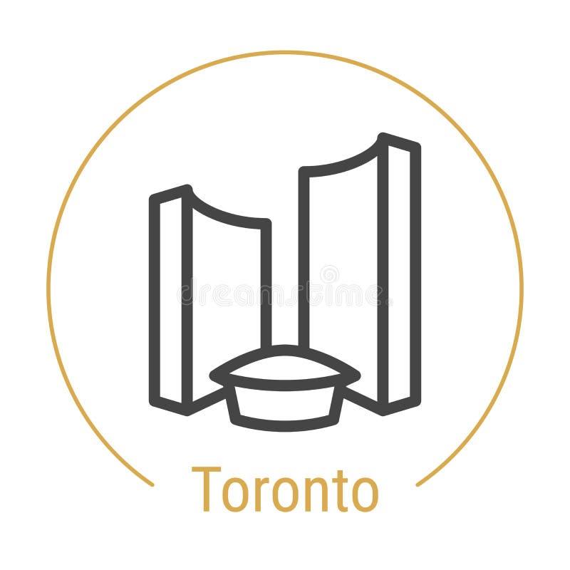 Vektor-Linie Ikone Torontos, Kanada lizenzfreie abbildung