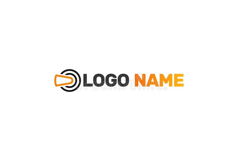 Vektor Logo Design For Virtual Reality stock illustrationer