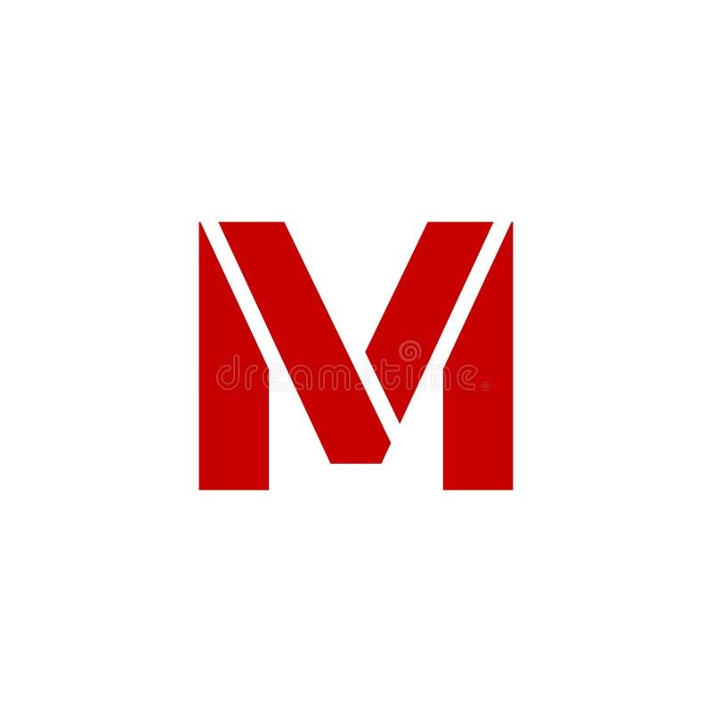Vektor Logo Letter M stock illustrationer