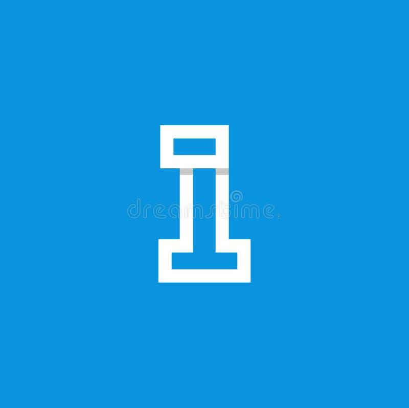 Vektor Logo Number 1 Weiß stock abbildung