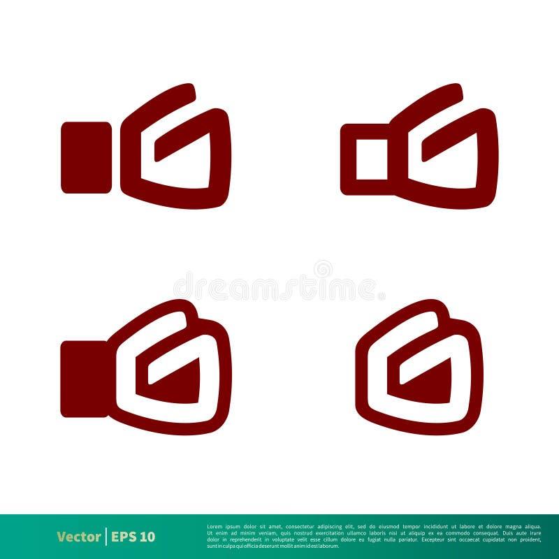 Vektor Logo Template Illustration Design för symbol för handske för G-bokstavsboxning Vektor EPS 10 vektor illustrationer