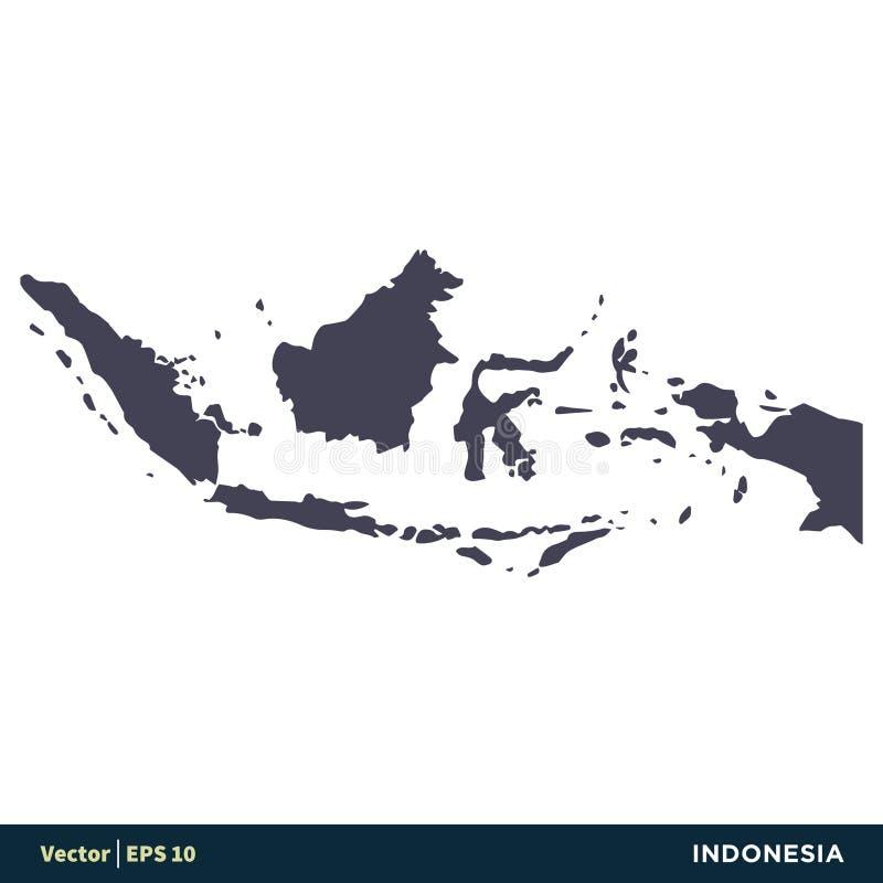 Vektor Logo Template Illustration Design för symbol för Indonesien - Asien landsöversikt Vektor EPS 10 vektor illustrationer
