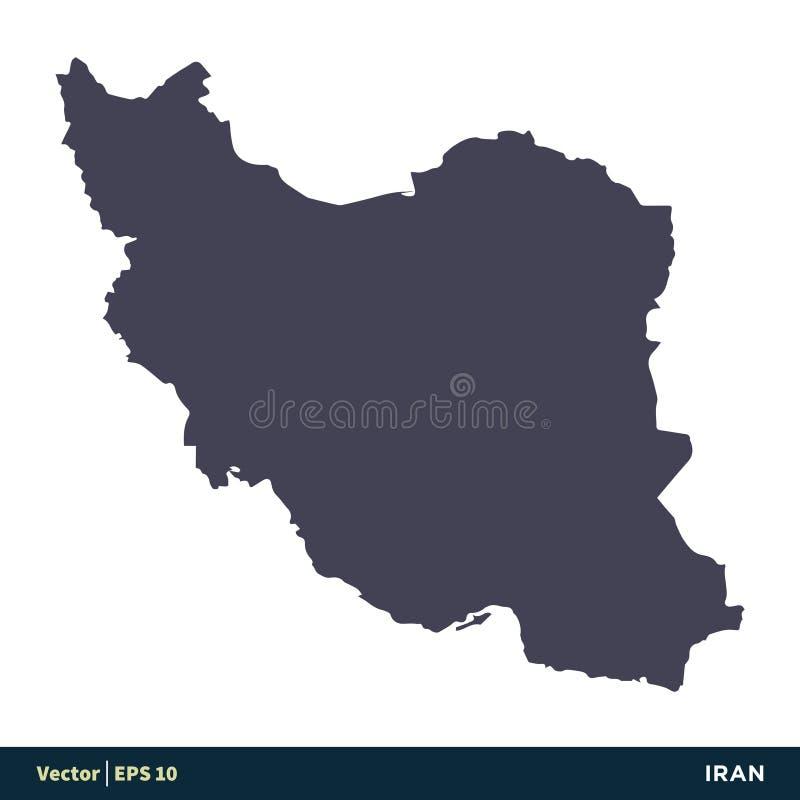 Vektor Logo Template Illustration Design för symbol för Iran - Asien landsöversikt Vektor EPS 10 stock illustrationer