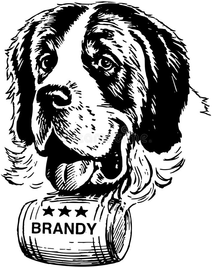 Vektor lokalisierter Hund stock abbildung