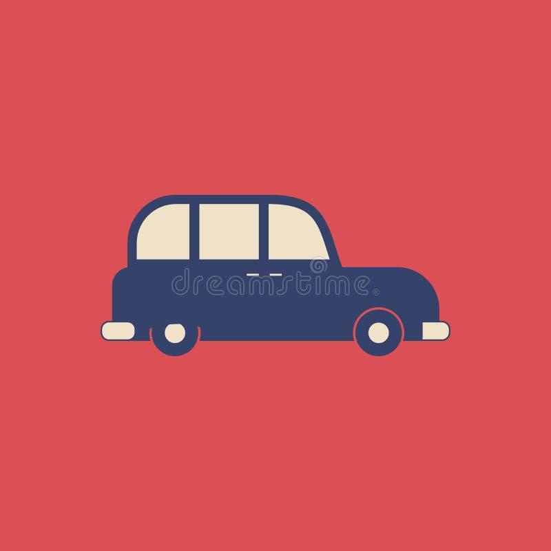 Vektor-London-Fahrerhaus in der modernen flachen Art auf hellem Hintergrund Plakat mit London-Fahrerhaus vektor abbildung