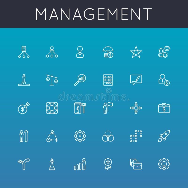 Vektor-Management-Linie Ikonen lizenzfreie abbildung
