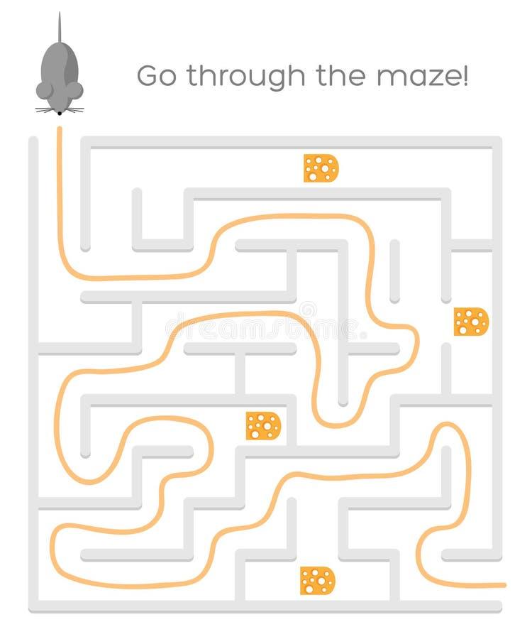 Vektor Maze Game stock illustrationer