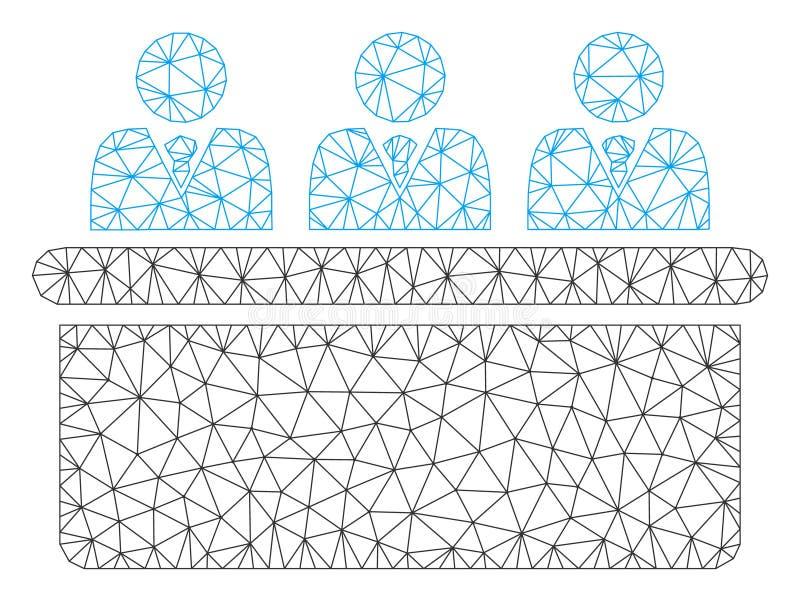 Vektor Mesh Illustration f?r ram f?r kontoristskrivbord Polygonal stock illustrationer