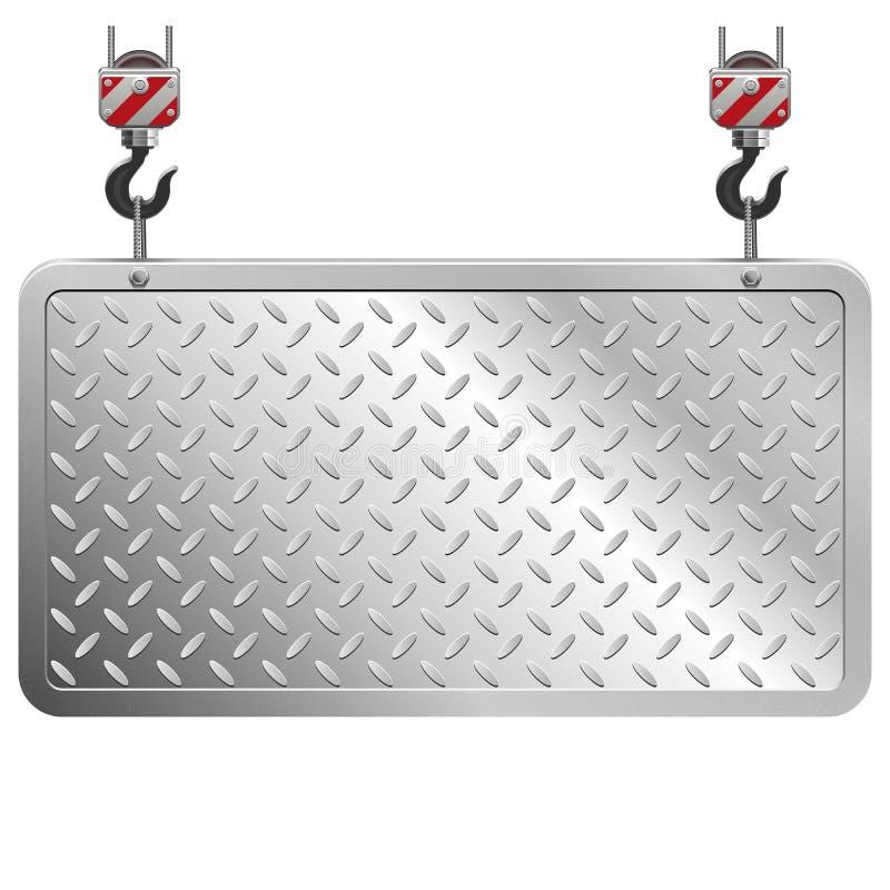 Vektor-Metallbrett lizenzfreie abbildung