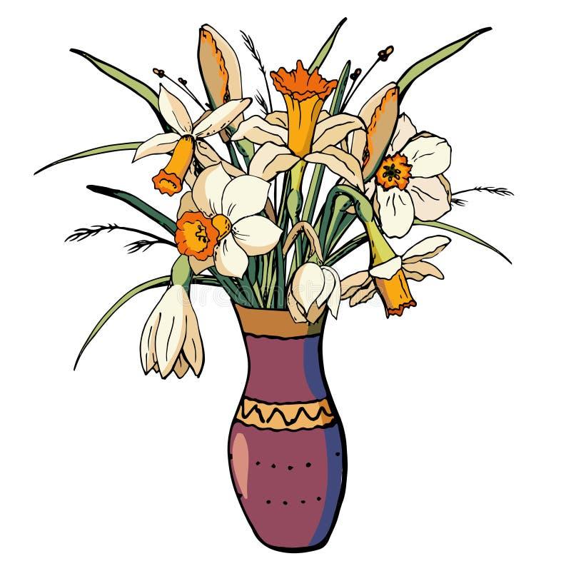 Vektor mit Blumen stock abbildung
