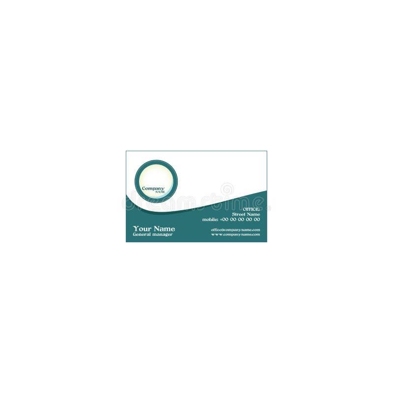 Vektor-moderne kreative und saubere Visitenkarte-Schablone lizenzfreie abbildung