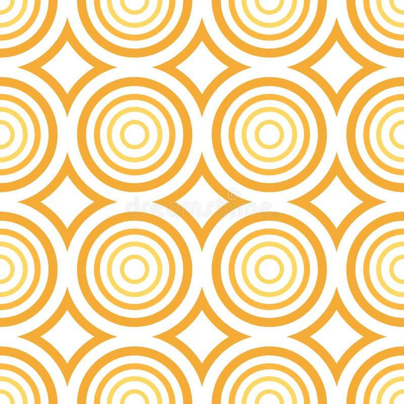 Vektor nahtlos - orange Kreismuster vektor abbildung