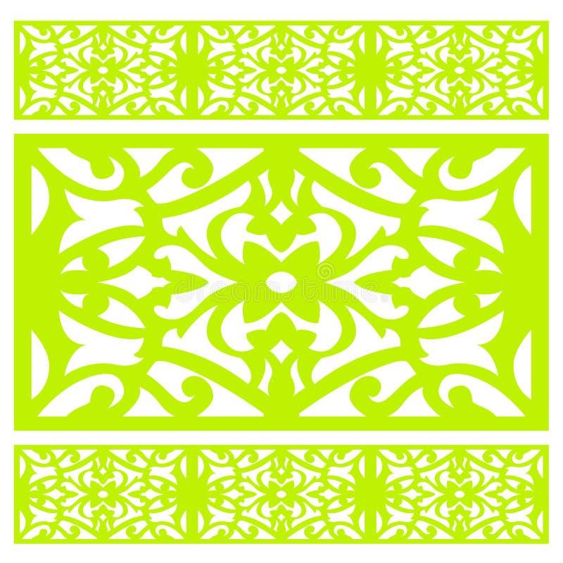 Vektor-nahtlose Hintergrund-Verzierungen lizenzfreie abbildung
