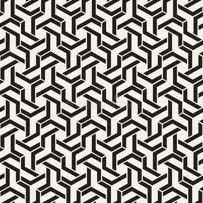 Vektor-nahtlose Linien Muster Moderne stilvolle abstrakte Beschaffenheit Wiederholen von geometrischen Fliesen mit Streifenelemen stock abbildung