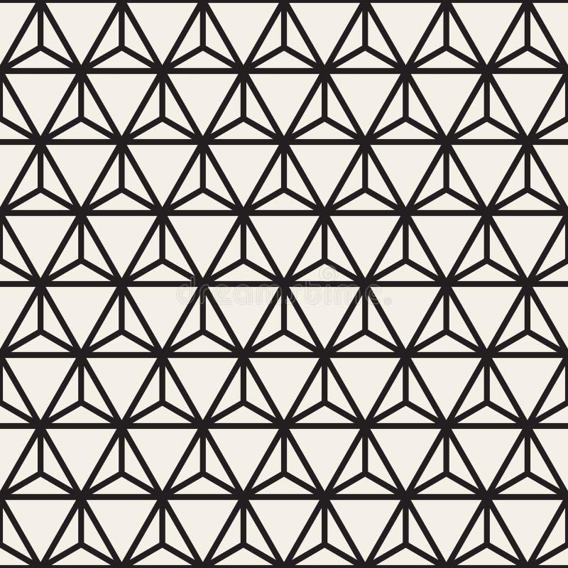 Vektor-nahtlose Schwarzweiss-abgerundete Form-Blumenmuster lizenzfreie abbildung