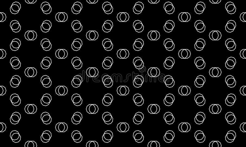 Vektor-nahtloser geometrischer Muster-Schwarzweiss-Hintergrund Entwurf lizenzfreie abbildung