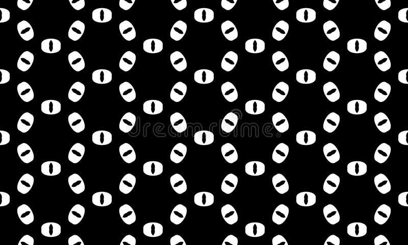 Vektor-nahtloser geometrischer Muster-Schwarzweiss-Hintergrund Entwurf vektor abbildung