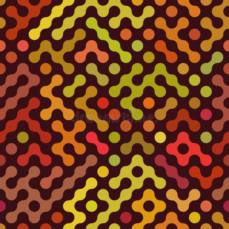 Vektor nahtloser gerundeter Mehrfarben-geometrischer Hintergrund Truchet vektor abbildung