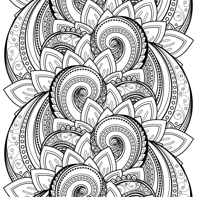Vektor-nahtloses einfarbiges Blumenmuster vektor abbildung