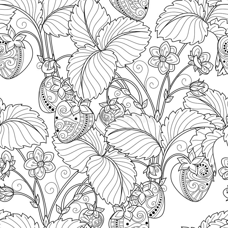 Vektor-nahtloses einfarbiges Frucht-Muster lizenzfreie abbildung