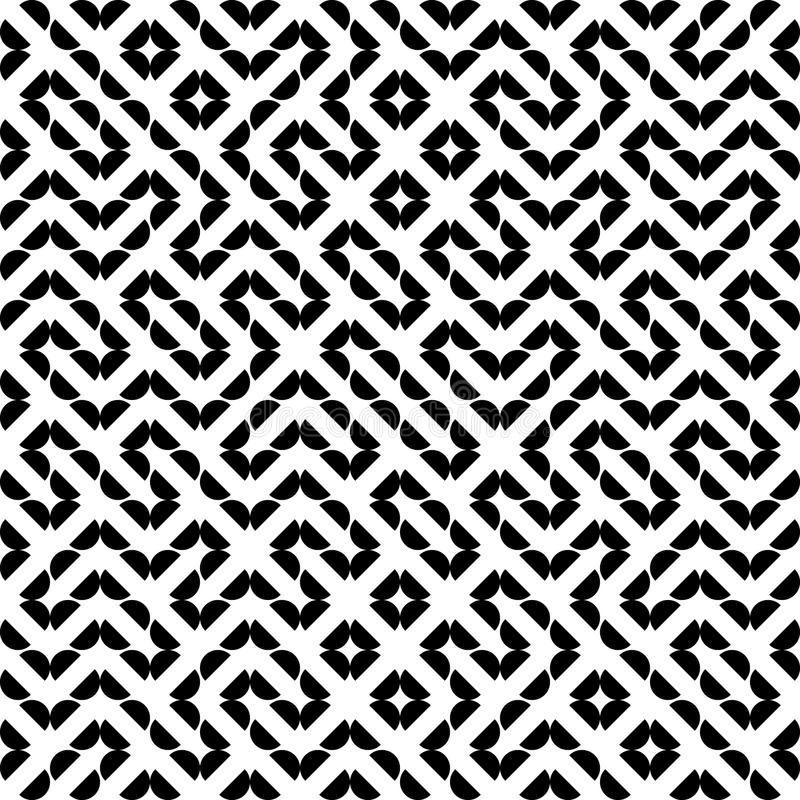 Vektor-nahtloses Geometrie Truchet-Muster vektor abbildung