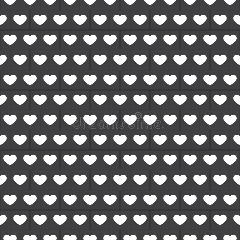 Vektor - nahtloses Ginghammuster mit Herzen im Weiß vektor abbildung