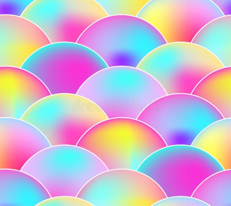 Vektor-nahtloses Muster, Regenbogen-Farben, Skala-Hintergrund vektor abbildung