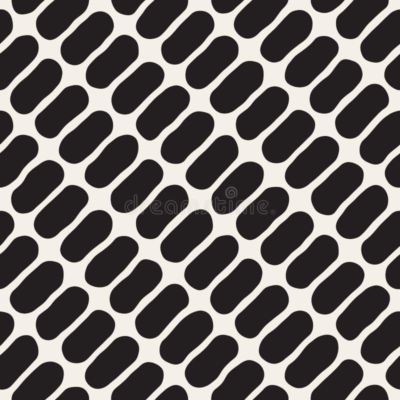 Vektor-nahtloses Schwarzweiss-Durcheinander kreist Muster ein vektor abbildung