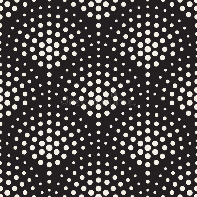 Vektor-nahtloses Schwarzweiss-Kreis-Mosaik-Muster vektor abbildung