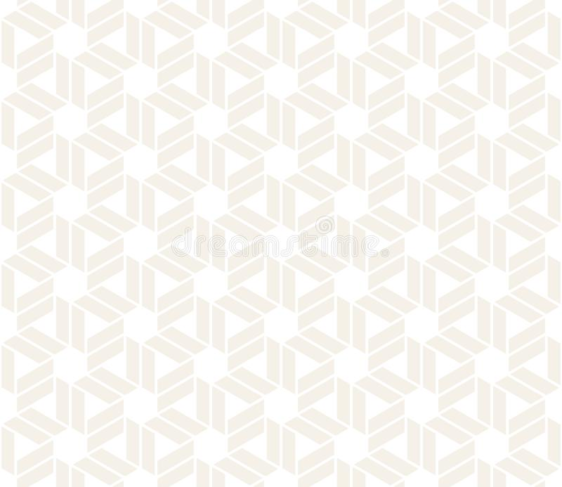 Vektor-nahtloses subtiles Muster Moderne stilvolle abstrakte Beschaffenheit Wiederholen des geometrischen Tiling von gestreiftem  vektor abbildung