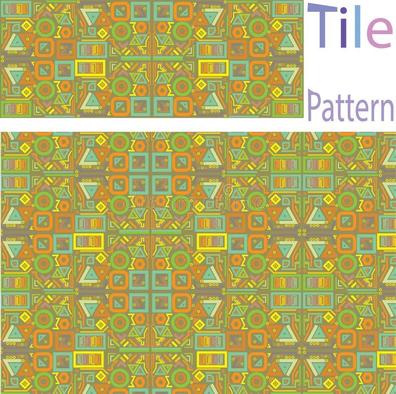 Vektor-nahtloses weißes geometrisches ursprüngliches quadratische Block-Gitter Pat vektor abbildung
