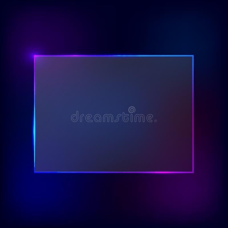Vektor-Neon-Rahmen stockfotos