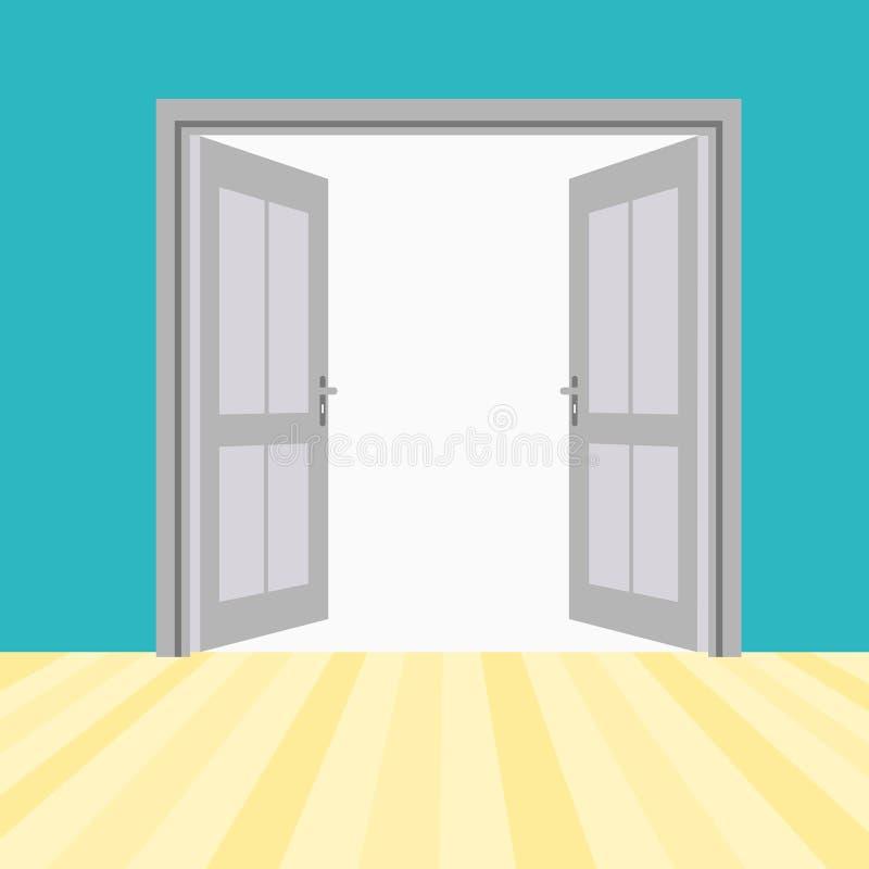 Vektor-offene Türen vektor abbildung