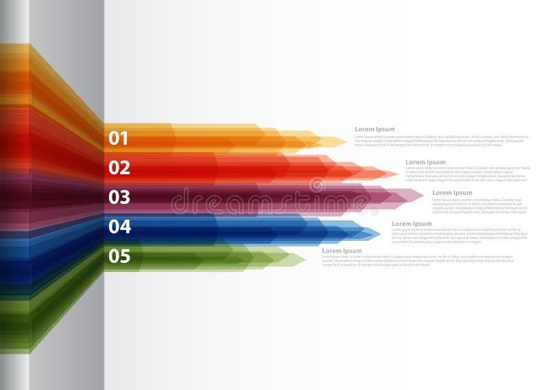 Vektor-Papier-Fortschrittshintergrund/-Produktauswahl oder -versionen vektor abbildung