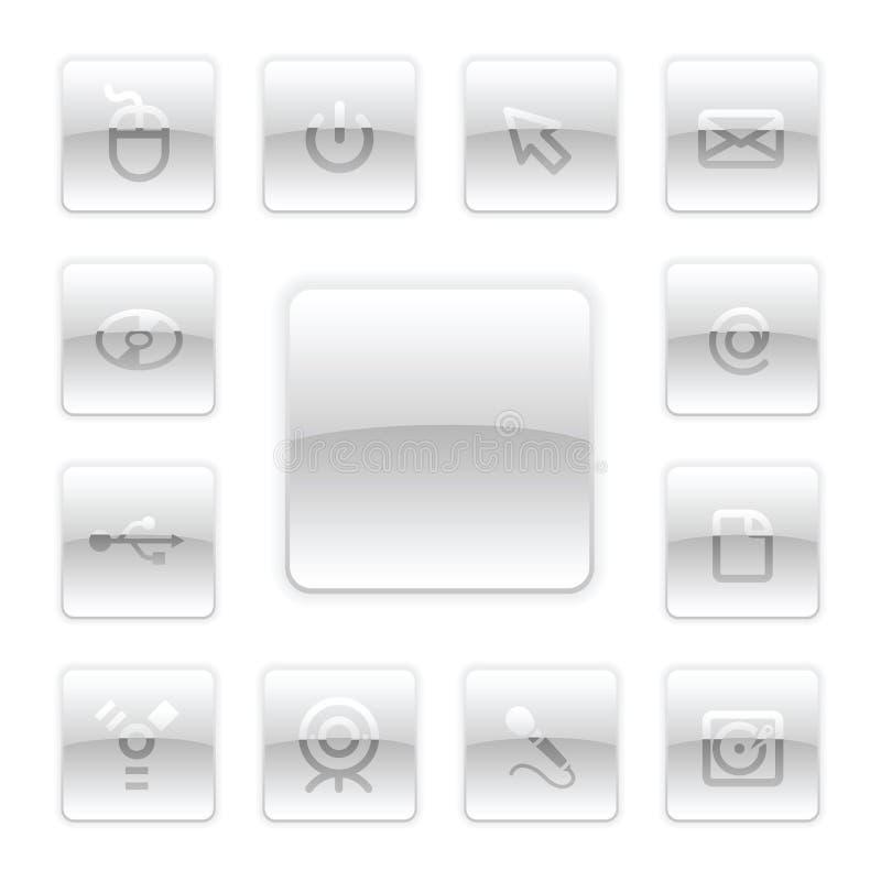 Download Vektor-PC Ikonen-Set vektor abbildung. Illustration von film - 9094319