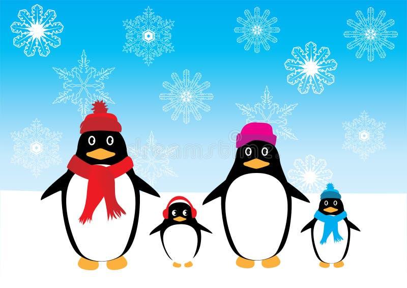 Vektor-Pinguinfamilie stock abbildung